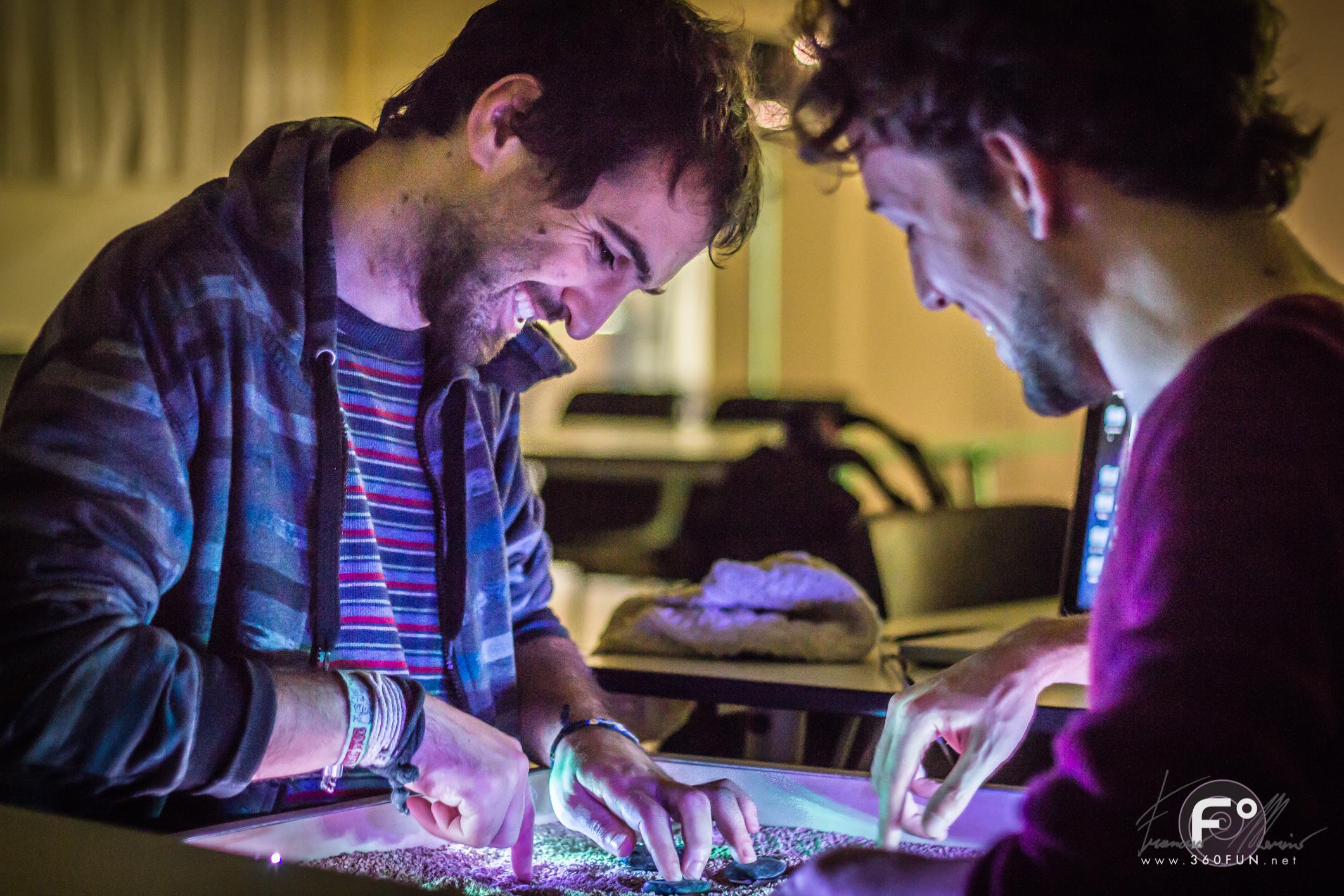smiling sense shifting madinteraction emotiorama biofeedback biosensor interactive art installation