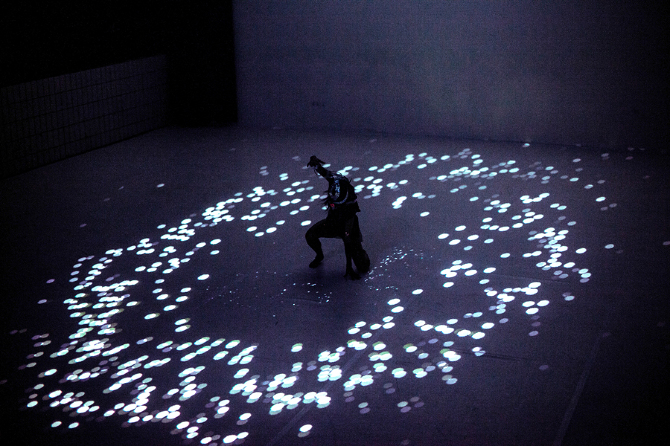 interactive media dance performance with sensors