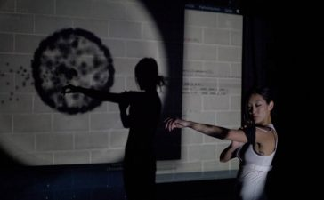 Interactive Projection Mapping Dance